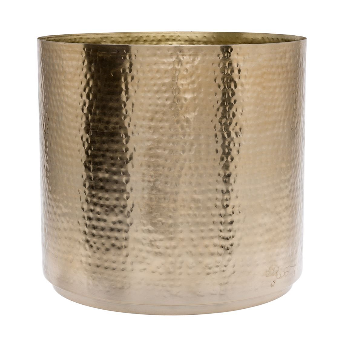 Hammered 28cm Planter Brass Colour Brass Color Brass Brass Pot