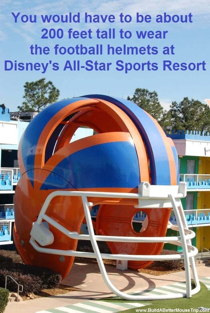 Disney Facts & Trivia The giant helmets that adorn some