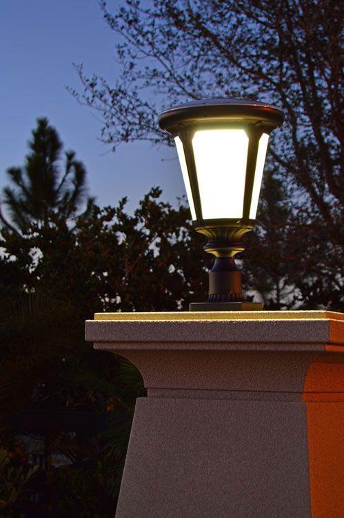 Post Mount Solar Pillar Lights Entrance Column Pillar