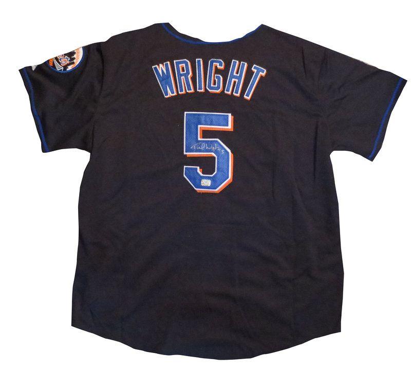 san francisco 7ba8a 22784 David Wright Autographed New York Mets Baseball Jersey - AAA ...