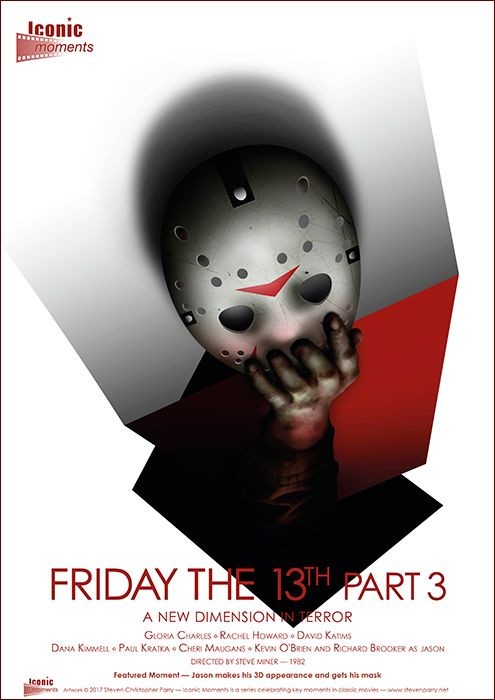 Friday The 13th Part 3 movie poster for Iconic Moments - Created by Steven Parry - www.stevenparry.net
