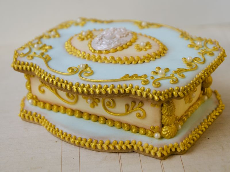 3D Cookie Jewelry Box Marie Antoinette Koekjes Pinterest
