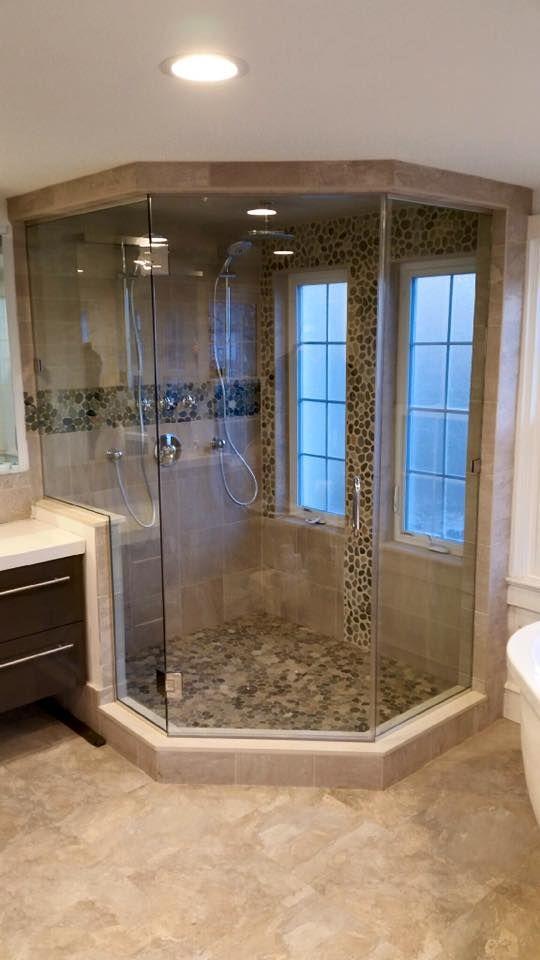 neo angle steam enclosure  restroom remodel modern