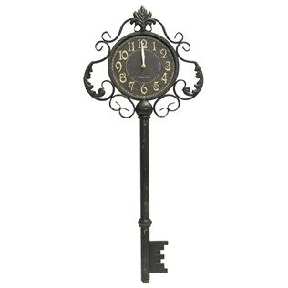 Love This Clock  Black Metal Key Wall Clock  Shop Hobby Lobby Amusing Small Wall Clock For Bathroom Design Decoration