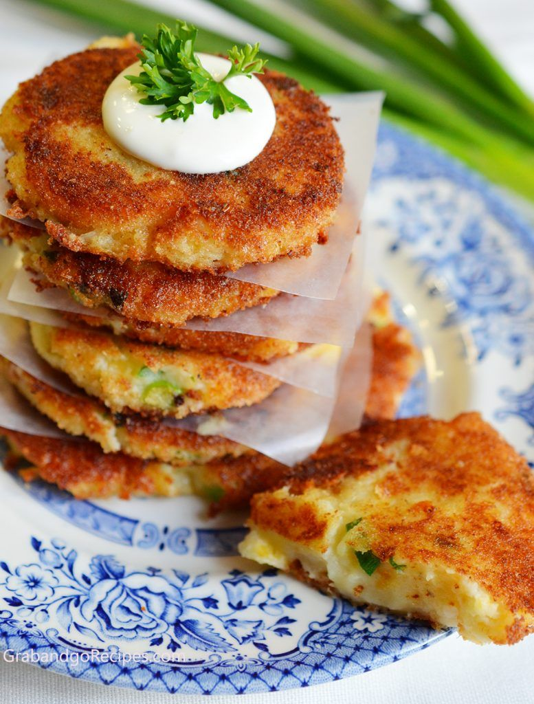 Crispy Cheesy Leftover Mashed Potato Pancakes #potatopancakesfrommashedpotatoes