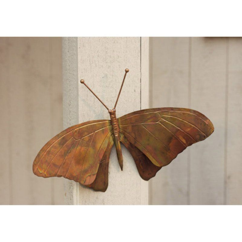 Ancient Graffiti Butterfly Wall Sculpture   Torched Copper   ANCIENTAG1021