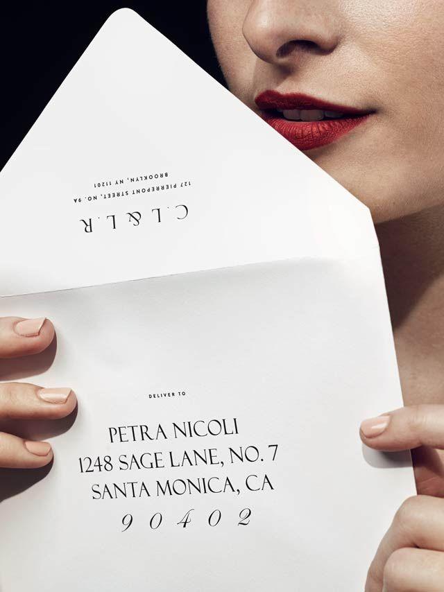 venamour photo direction typography envelope design envelope