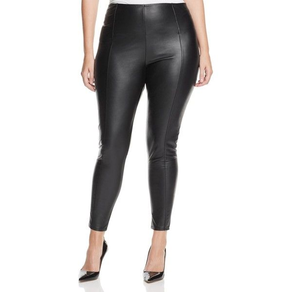 710ad3399ee30 Lysse Plus High Waist Faux Leather Leggings ($67) ❤ liked on Polyvore  featuring plus size women's fashion, plus size clothing, plus size pants,  ...
