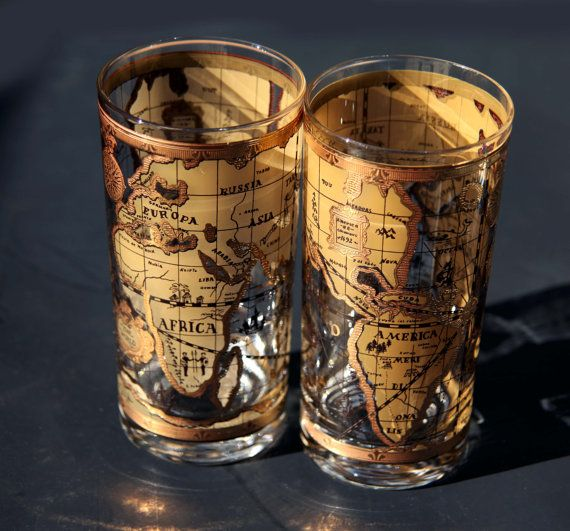 Vintage old world map cera gold glasses tumblers by cherryrevolver vintage old world map cera gold glasses tumblers by cherryrevolver 5900 gumiabroncs Image collections