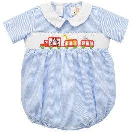 Train with Animals Smocked Boys Bubble - $34.99