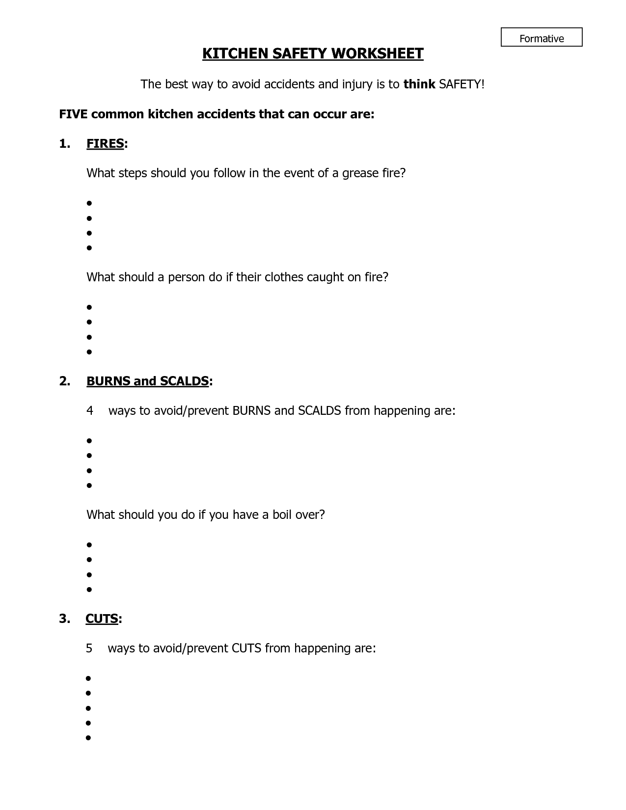 Home Safety Worksheets – Safety Worksheets