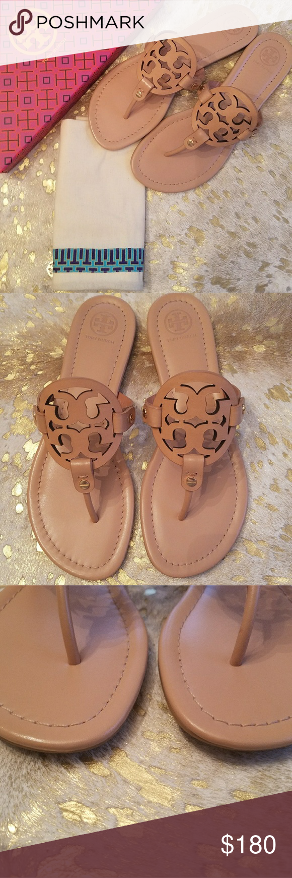 7e0f9269a6183 New Tory Burch Miller Sandal Size 9.5 Light Makeup Brand New! Comes with  Box and Dust Cover Size 9.5 Light Makeup Tory Burch Shoes Sandals
