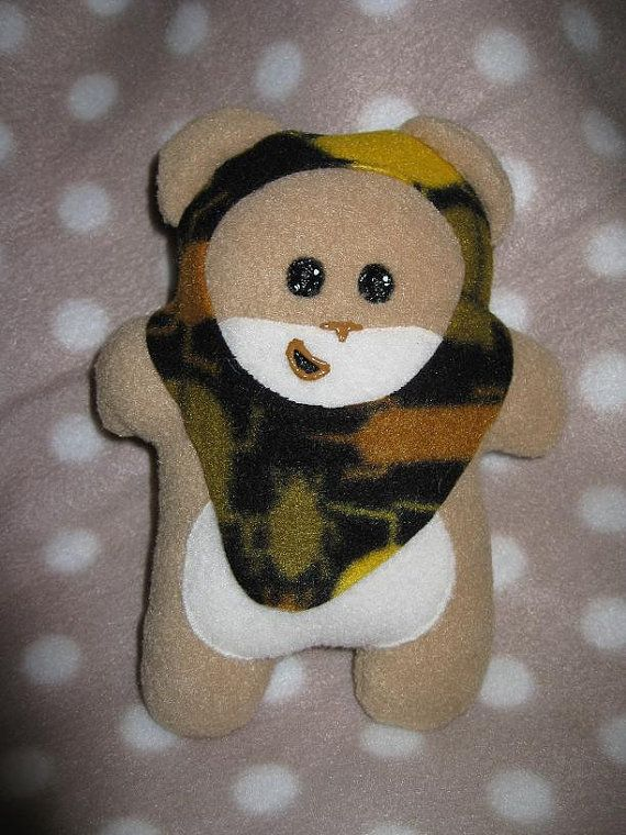 Little Tan SQUEEwok with Bug Patterned Hood by skotkincreations, $16.00