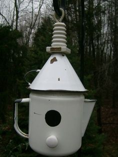 antique coffee pot bird house | Birds | Pinterest | Bird houses and on porcelain bird houses, spoon bird houses, tree bird houses, coffee bird houses, book bird houses, kettle bird houses, watering can bird houses, basket bird houses, flower bird houses, christmas bird houses, clock bird houses, tea cup bird feeder poem, really easy bird houses, easy to make bird houses, silver bird houses, cream bird houses, teacup bird houses, vintage bird houses, pan bird houses, box bird houses,
