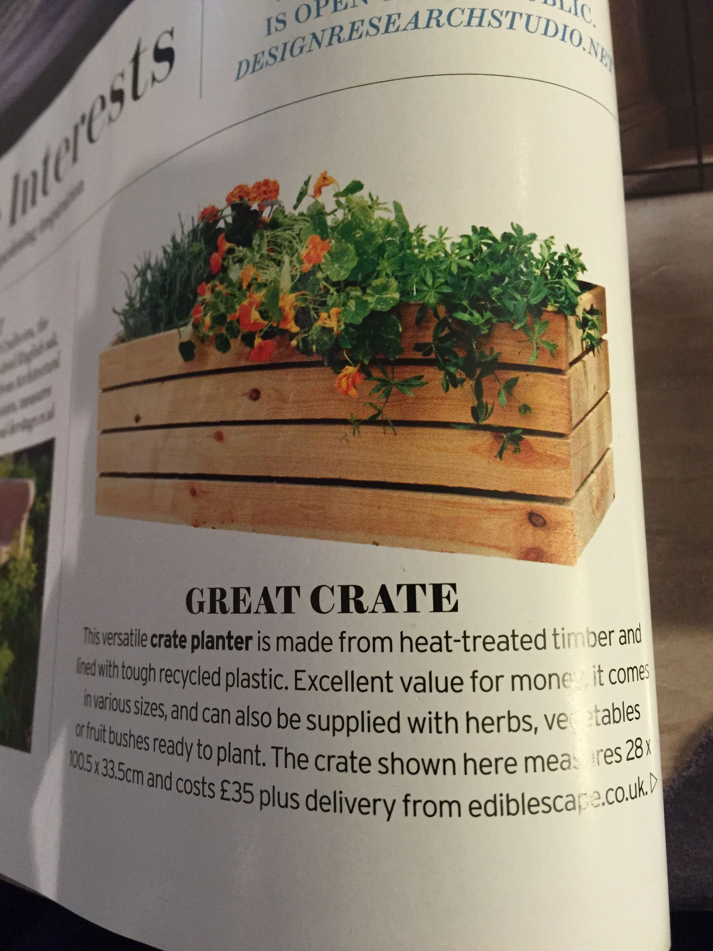Crate planter | Outdoor space | Pinterest | Outdoor spaces and Planters