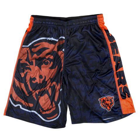 Chicago Bears Official NFL Big Log Camo Shorts  6cc01d9ddc4b5