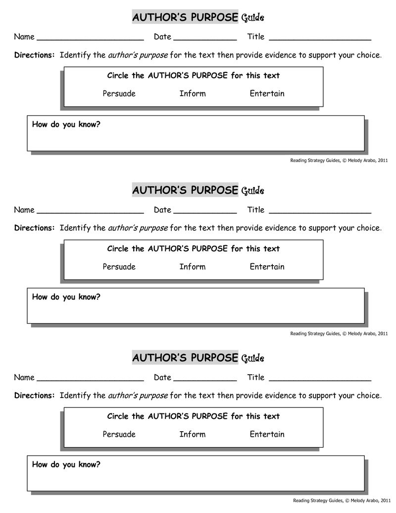 Third grade Lesson Author's Purpose: The proof is in the PIE   Authors  purpose [ 1035 x 800 Pixel ]