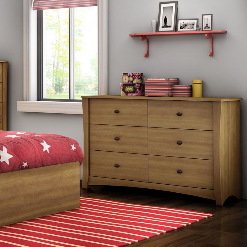 The Micah 6 Drawer Dresser by South Shore.