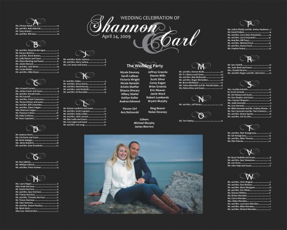 Seating chart with Picture of the couple Very cute Found at - wedding charts