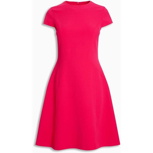 Pink Compact Dress ($7.30) ❤ liked on Polyvore featuring dresses, pink dress and pink day dress