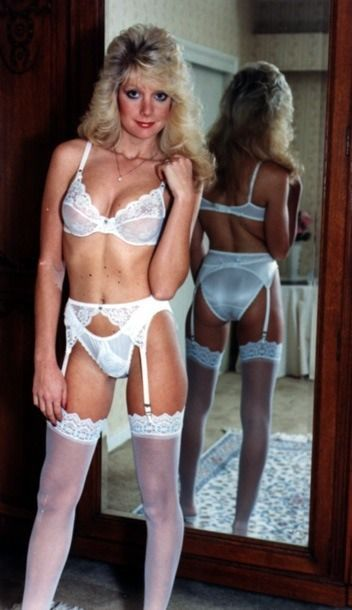 c728739701b White Garter Belt White Bra and Sheer White Stockings | Satin shiny ...
