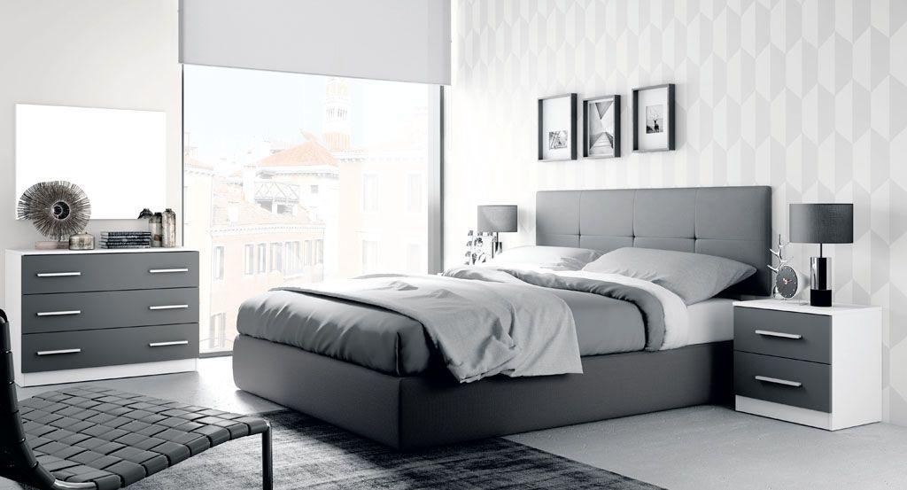 Cortinas Enrollables Haciendo Juego Con Una Recamara Minimalista Dormitorios Juego De Habitacion Moderno Juegos De Dormitorio Matrimonial