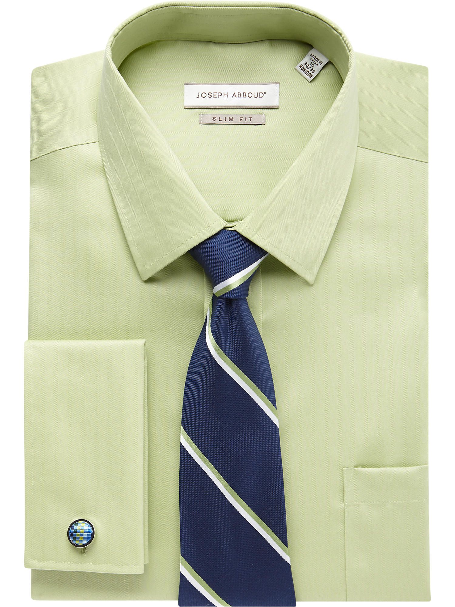 e82cfc9a Light Green Shirt & Blue Stripe Tie - Shirt and Tie Combos | Men's Wearhouse
