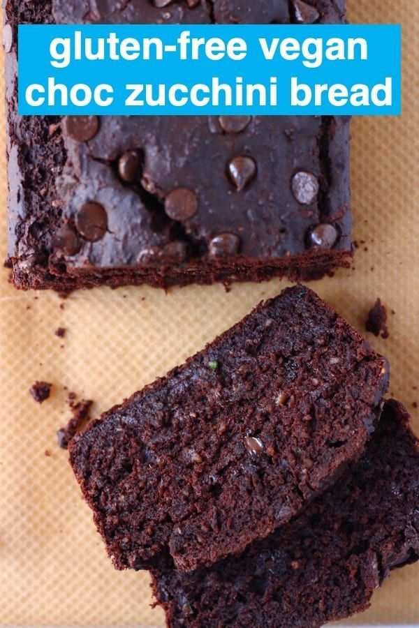 Vegan Chocolate Zucchini Bread is super moist, indulgent and tastes like a brownie! It's great for dessert, breakfast, brunch or a snack, and definitely doesn't taste like vegetables! Egg-free, dairy-free and refined sugar free.