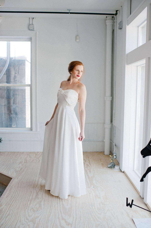 Bette Wedding Dress; Handmade Wedding Dress, strapless
