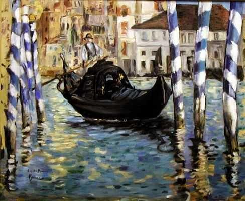 Le grand canal de Venise, par Édouard Manet
