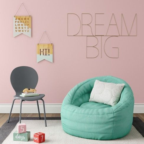 Tremendous Cocoon Bean Bag Chair With Pocket Aqua Pillowfort Blue Pdpeps Interior Chair Design Pdpepsorg