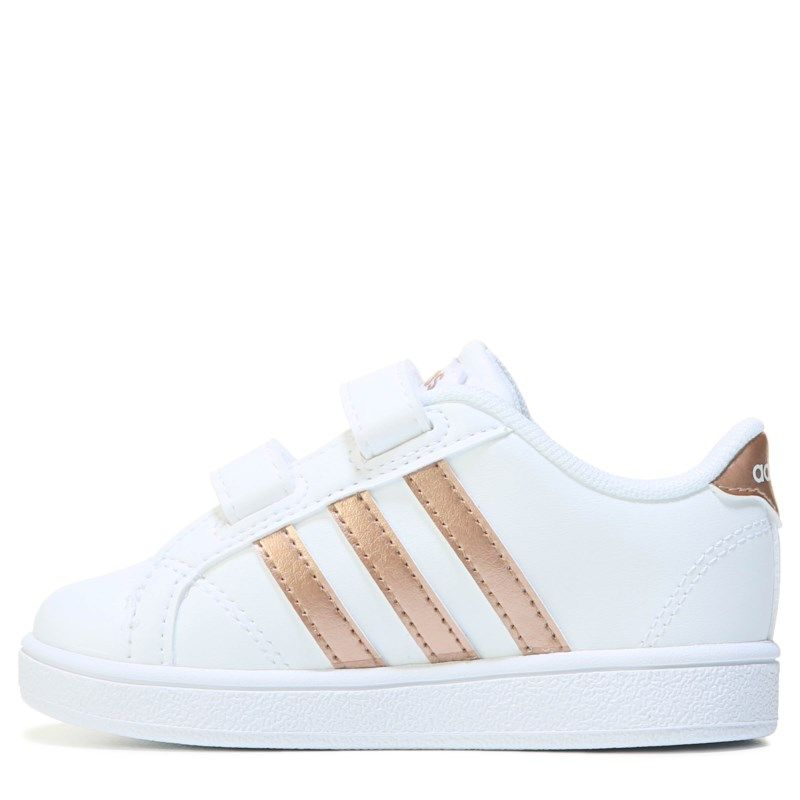 c097f5e08253 Adidas Kids  Baseline Sneaker Toddler Shoes (White Rose Gold ...