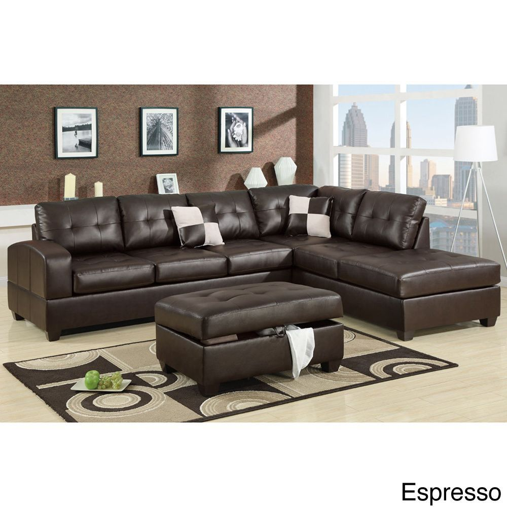Reversible Sectional Sofa White Bonded Leather Match Sofas: 1199.99 Berane Reversible All Around Bonded Leather