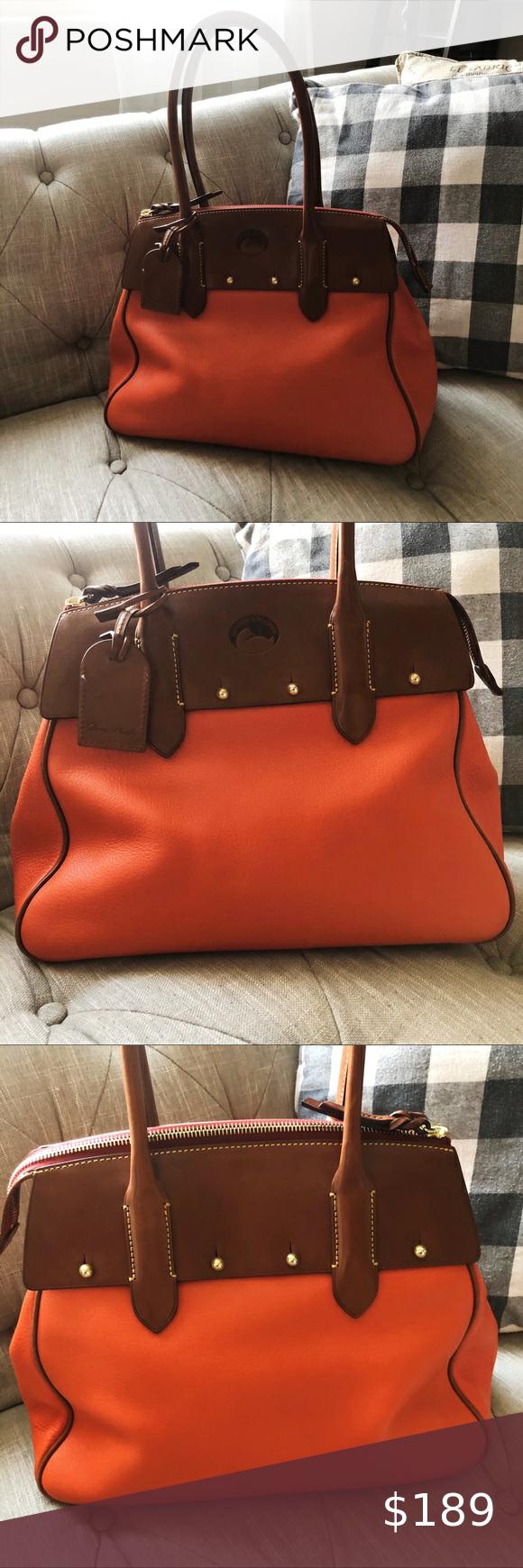 Dooney & Bourke Large Rare Wilson Leather Satchel in 2020