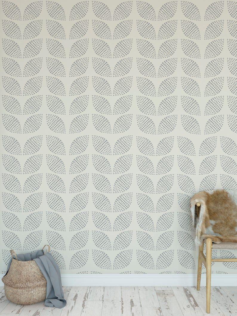 Removable Peel And Stick Wallpaper Seamless Floral Stipple Etsy Peel And Stick Wallpaper Dots Wallpaper Vinyl Wallpaper