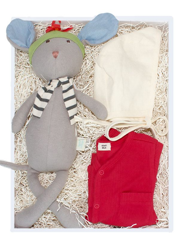 Organic Winter Mouse Baby Gift