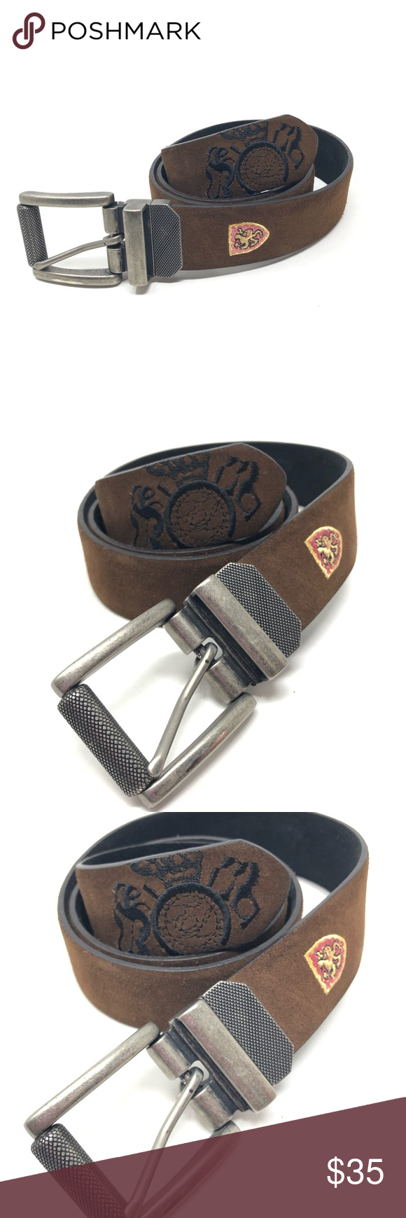 English Laundry 34 Windsor Road Brown Leather Belt Brown Leather