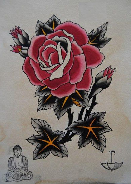 Japanese monk and rose drawing tattoo | Tattoo | Pinterest | Tattoo