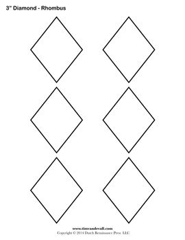 free rhombus template draw zentangle zendala tangle doodle