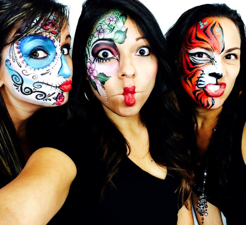 25 Awesome Face Painting ideas for Halloween! Halloween Party - best halloween face painting ideas
