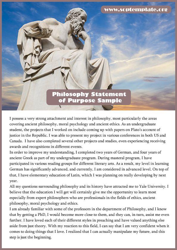 Easily Get Best Philosophy Statement Of Purpose Sample Sop Template Philosophy Statement Purpose