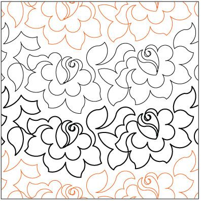 Pantograph Quilting Patterns Tea Rose Quilting Pantograph Pattern
