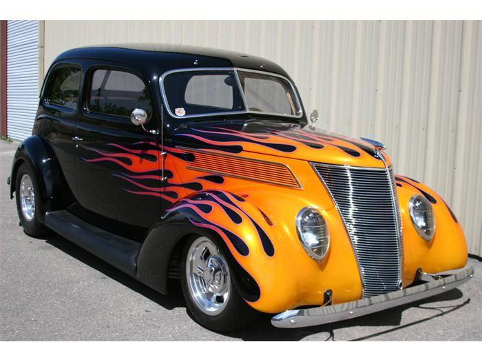 Classic Cars With Flames Ford Tudor Dap Of Flamed Hot
