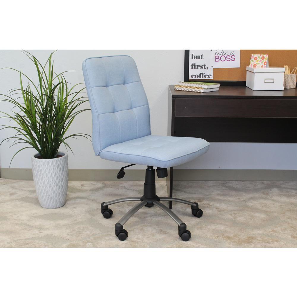 Boss Light Blue Modern Office Chair Pm B330pm Lb Ergonomic