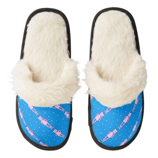 Hand drawn Adorable Sleepy Robot & Stars Comfy Slippers #artwork #slippers #zazzle #gifts #robots