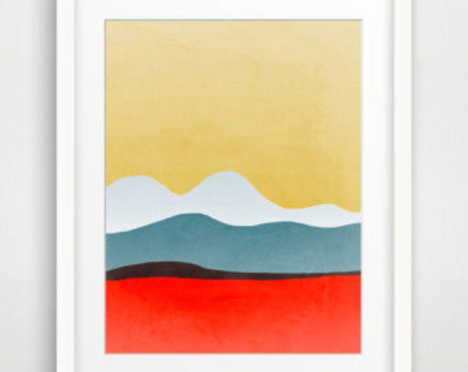 Mid Century Modern, Geometric Art, Abstract Art, Art Print Abstract ...