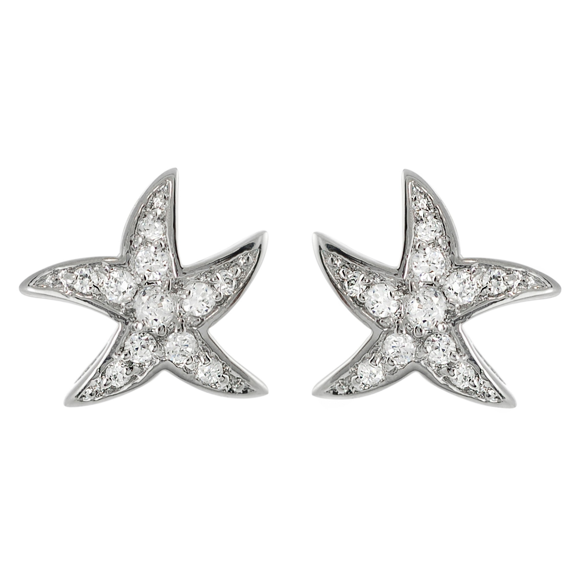 rose gold us toned star earrings stud icing fish starfish