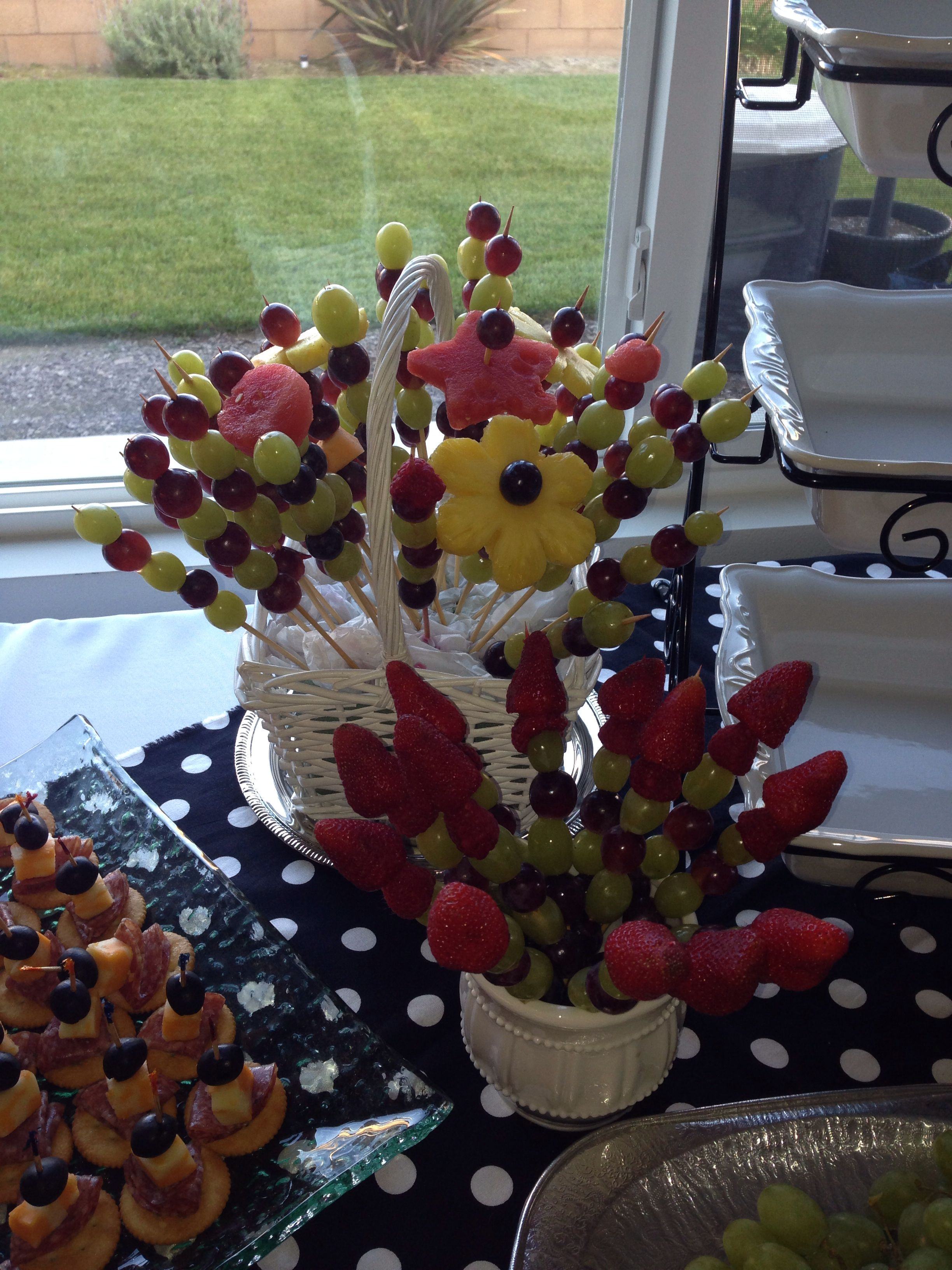 Fruit sticks for party table