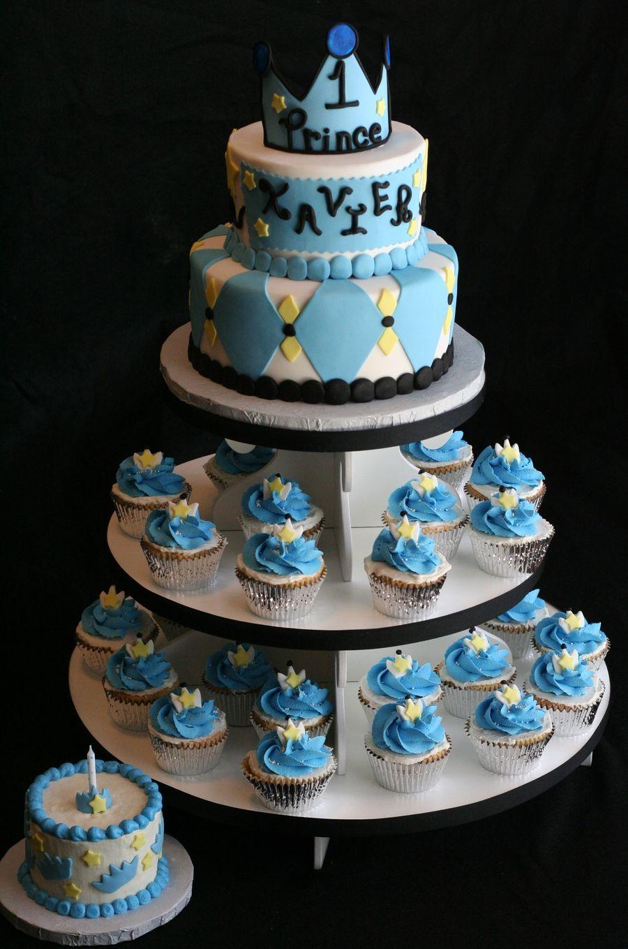 Prince Theme 1st Birthday Cake First Birthday Cakes Prince Cake
