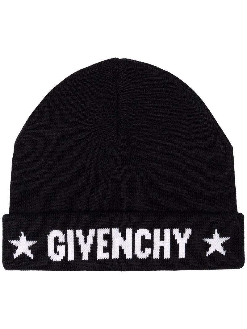 logo intarsia knit beanie - Black Givenchy r56FLj
